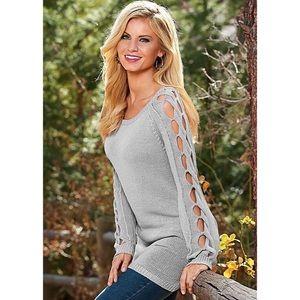 VENUS Sleeve Detail Tunic Sweater
